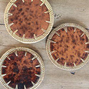 Boho Woven Coasters, Set of 6